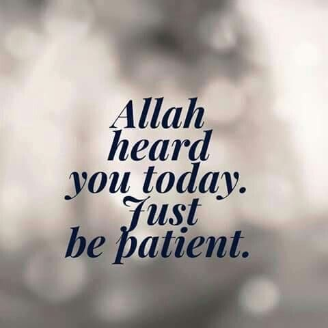 Allah heard you today...
