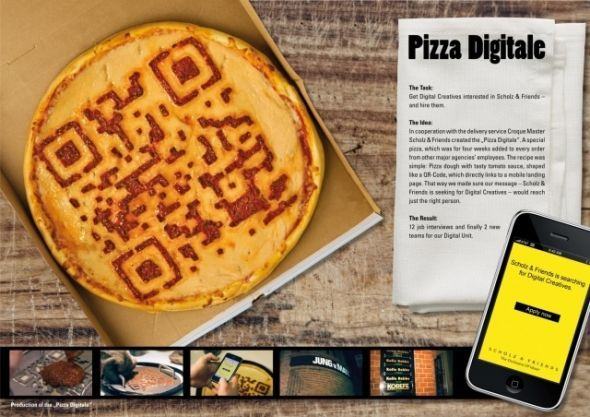 scholz and friends pizza digitale recruitment marketing