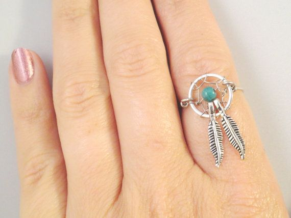 Hey, I found this really awesome Etsy listing at https://www.etsy.com/listing/109100798/dream-catcher-ring-with-feathers