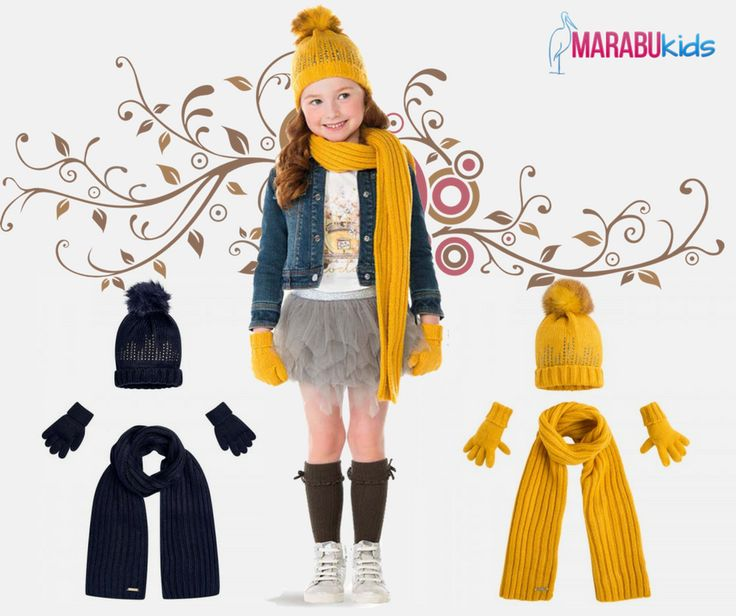 🌬️Iarna se apropie cu pași repezi! Seturile fashion cu căciulă, mănuși și fular o vor proteja pe cea mică de frig. #marabukids #caciula #manusi #fular #iarna