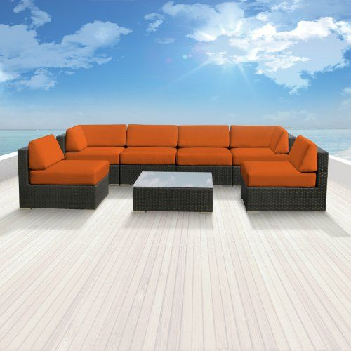 Genuine Luxxella Outdoor Patio Wicker Sofa Sectional Furniture BELLA 7pc Gorgeous Couch Set ORANGE Luxxella http://www.amazon.com/dp/B009M7AP84/ref=cm_sw_r_pi_dp_kxCWtb0VMKWHY56S