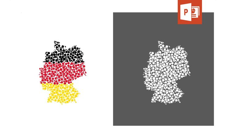 Present related topics in a visually attractive way with our map template of germany.