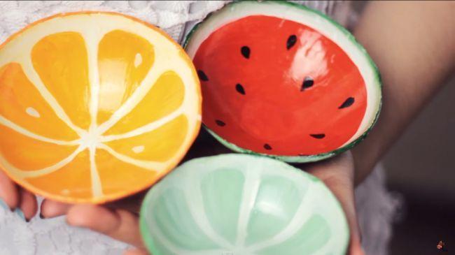 «Фруктовые» тарелки своими руками
