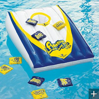 Floating bean bag toss pool game - so need this for summertime