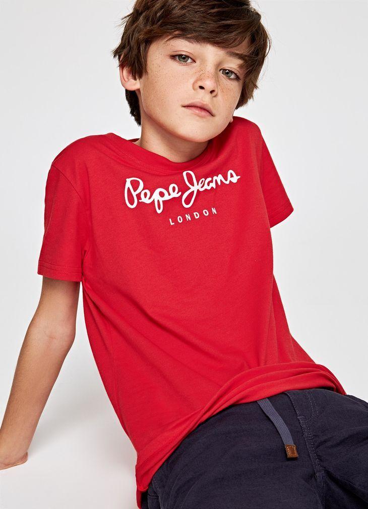 Pepe Jeans Kids Boys Andy Warhol Casual Motorbike Button Long Sleeve T-Shirt