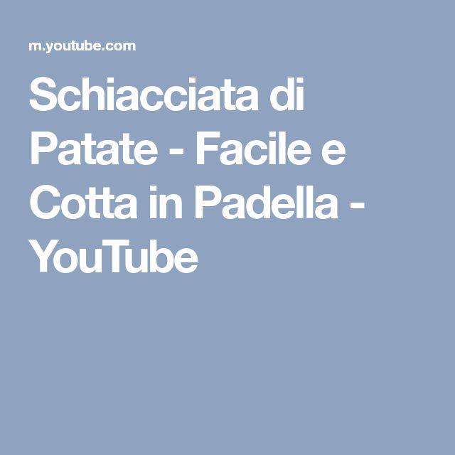 Schiacciata di Patate - Facile e Cotta in Padella - YouTube