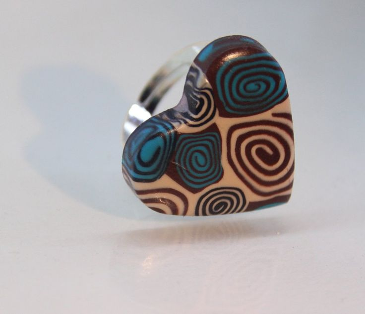 Anello cuore spirali beige, by Sin Jewelry, 6,00 € su misshobby.com