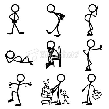 Stick Figures...it is funny that one can show so much emotion with a stick!