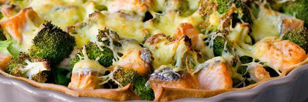 Zalm quiche met groene groentes