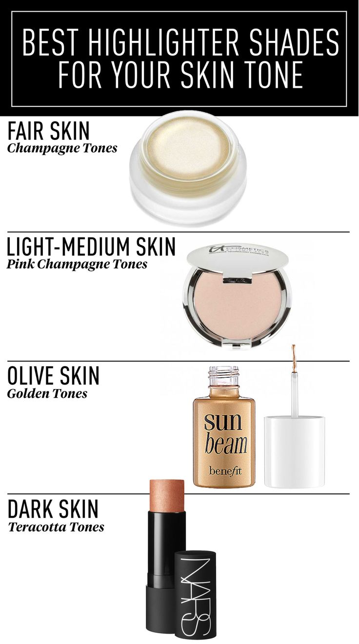 When strobing/highlighting, use a highlighter shade that best matches your skin tone.