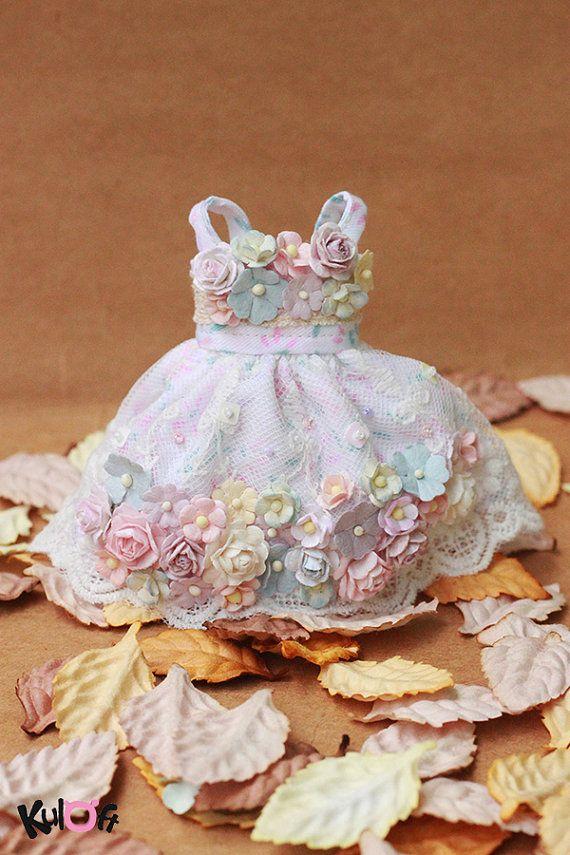 Blythe / YOSD Flower Dress by kuloft on Etsy