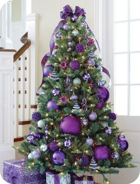 ideas para decorar el rbol de navidad morado