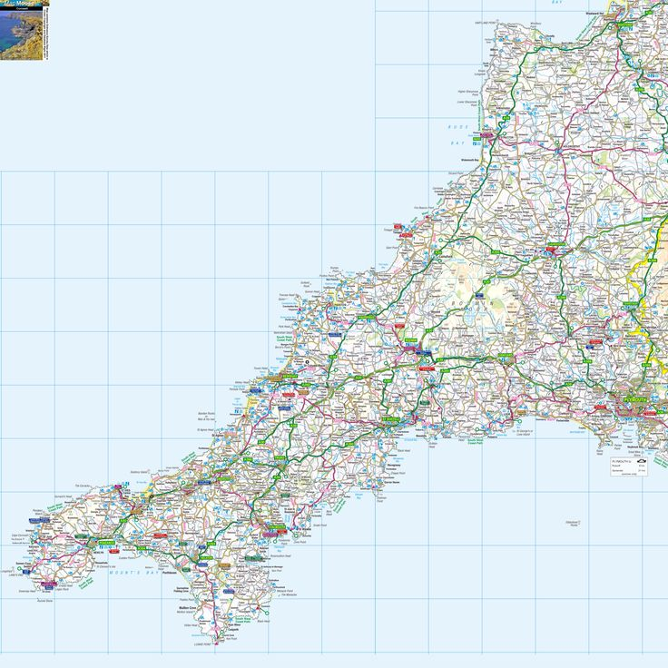Cornwall - high resolution map