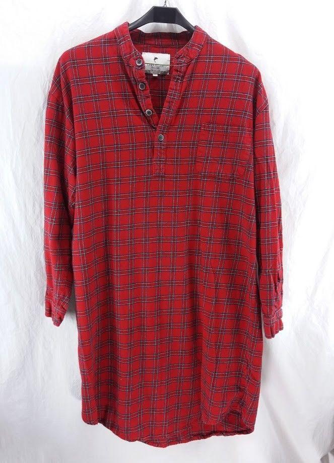 c8824cadfb Lee Valley Ireland Flannel Night Shirt Size XXL Red Tartan Plaid Royal  Stewart