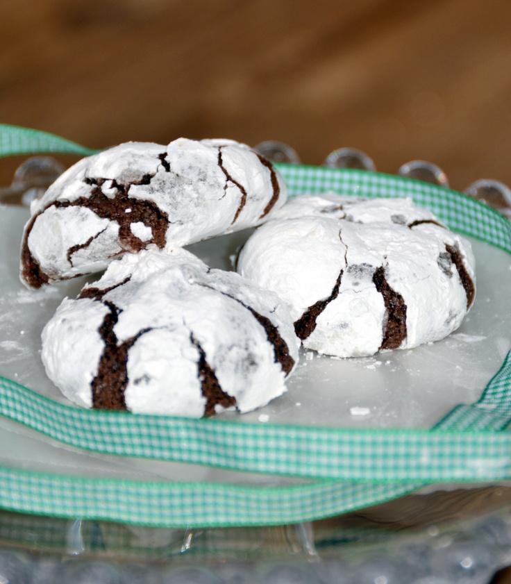 Chocolate Snowflake Cookies, gluten free, corn free, dairy free