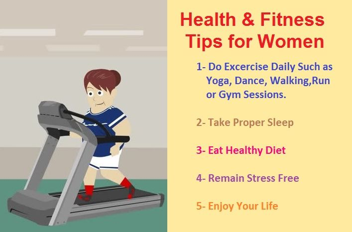 Read health and fitness tips for women