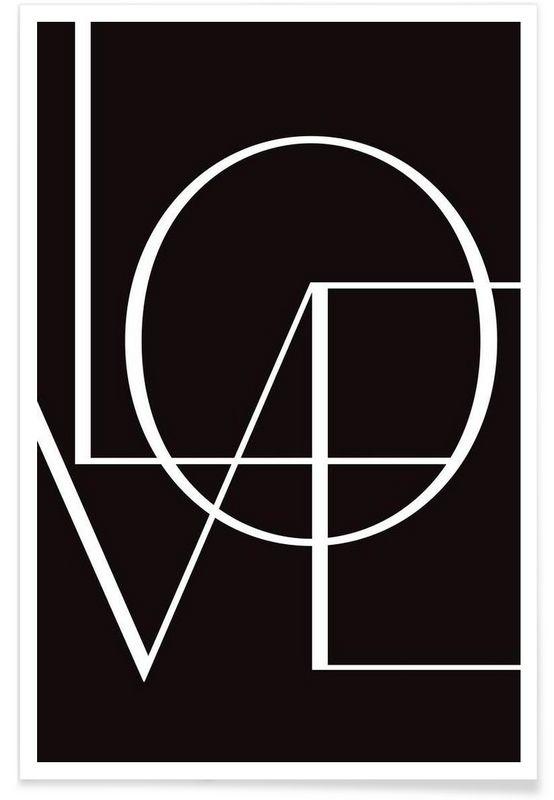 Love en Affiche premium par Letters on Love | JUNIQE