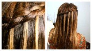 I love waterfall braids
