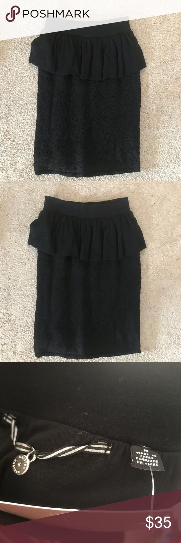 Knit & Knotted Peplum Skirt Brand new with tags!! So cute and even comfortable! Totally in love with it! Anthropologie Skirts