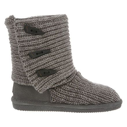 Women's Knit Tall by BEARPAW in color 055-Gray