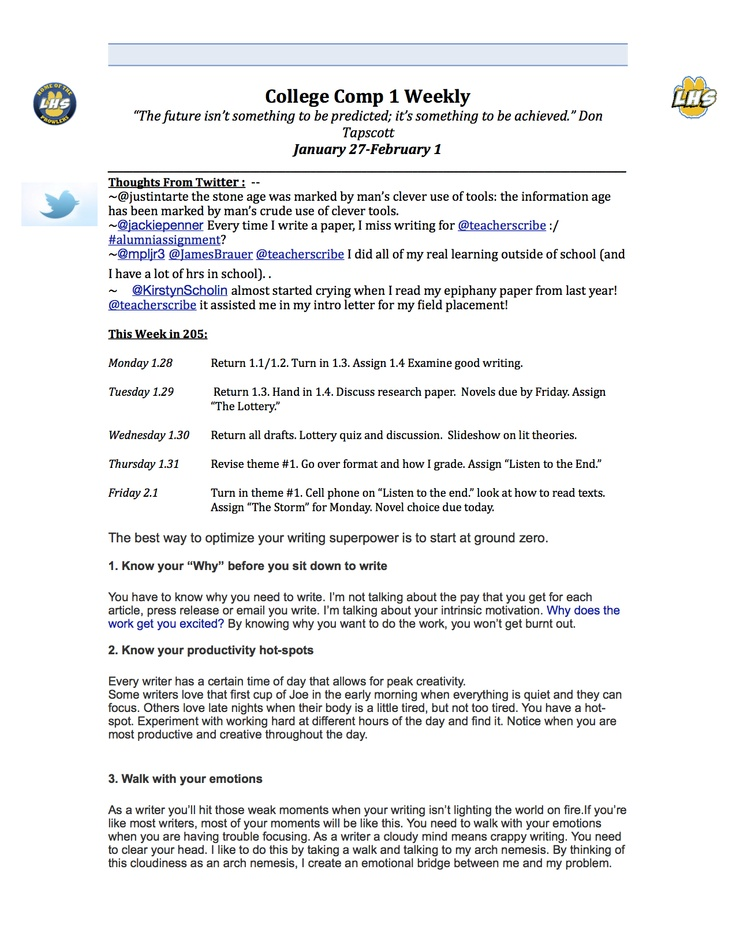 Week 2 lesson plan (page 1)