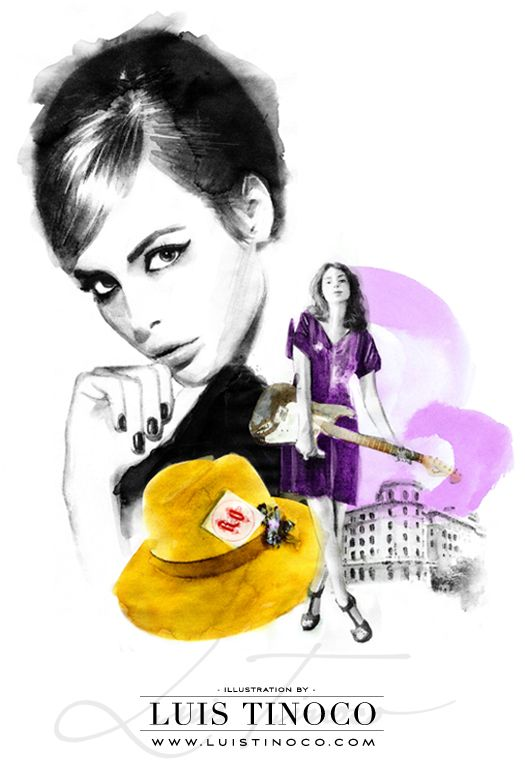 "MAYBELLINE NYC GUIDE 2014 ""BCKSTG"" Kemp Muhl Portrait ILLUSTRATION by LUIS TINOCO http://www.luistinoco.com/"