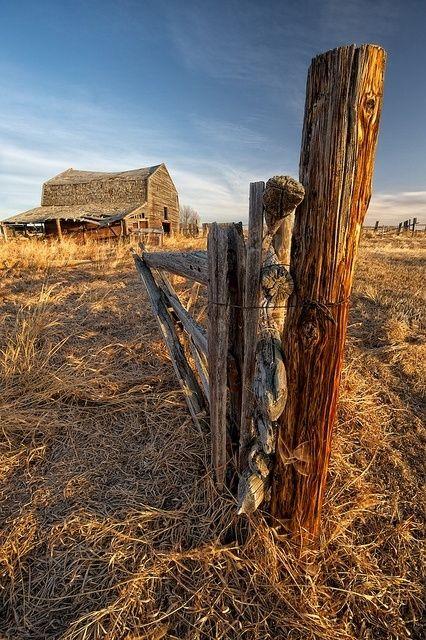Barn With Broken Fence