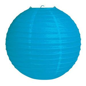 20041043 - Lantern - Bright Blue Lantern Bright Blue Solid Colour (30cm) Round' Please note: approx. 14 day delivery time.