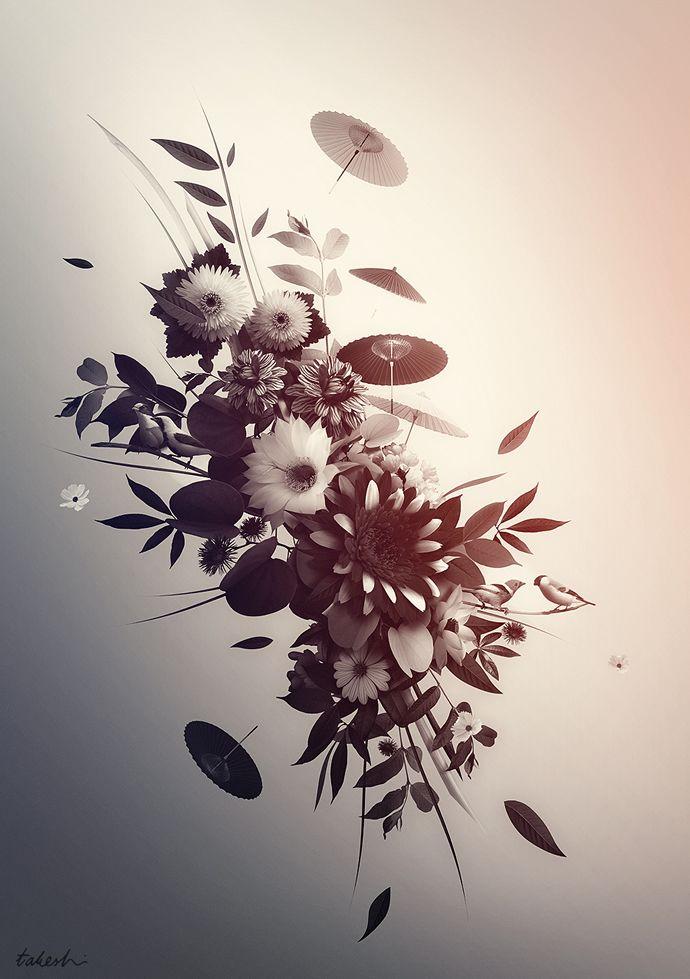 Illustrative and Surreal Work of Takeshi: Design Inspiration, Design Things, Graphic, Digital Collage, Art Inspiration, Digital Artworks