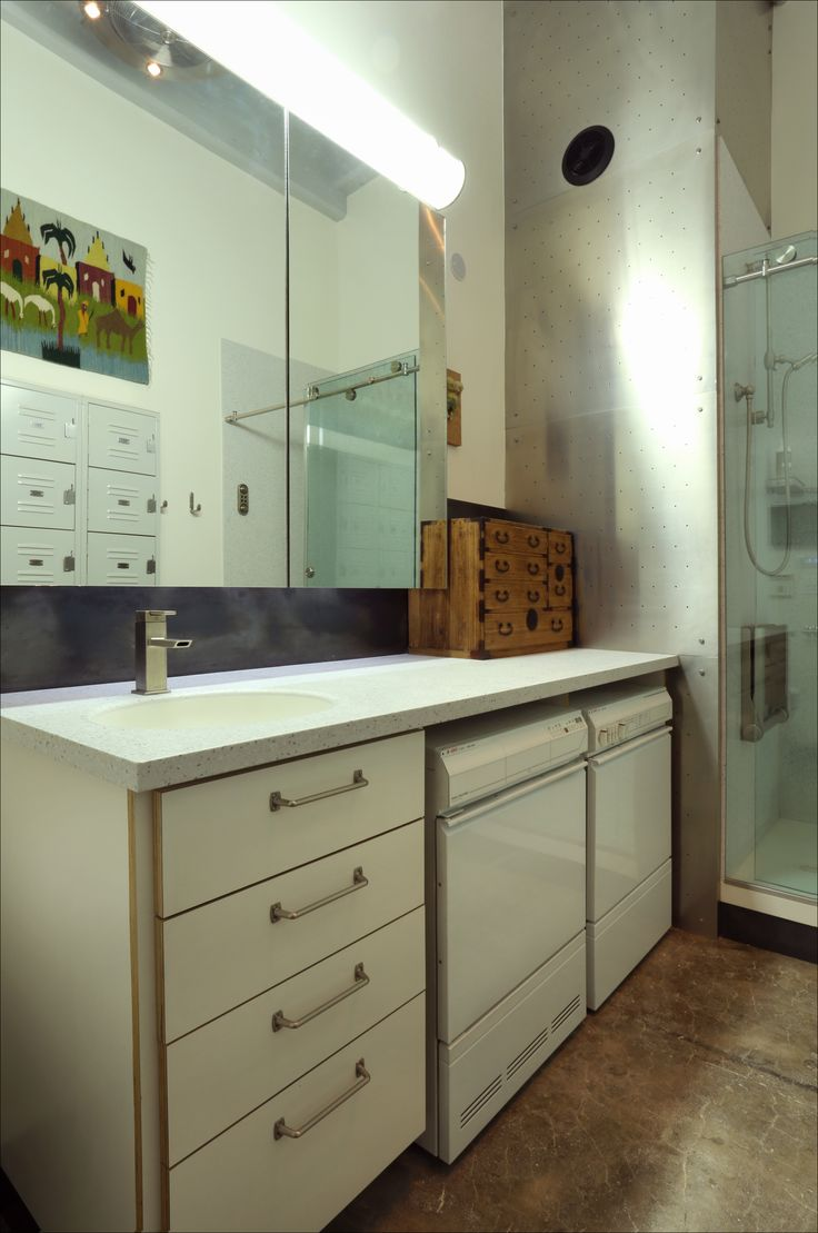 You are here home residential bathrooms - Integrate Your Laundry Into Your Bathroom Vanity And The Space Can Work Twice As Hard For