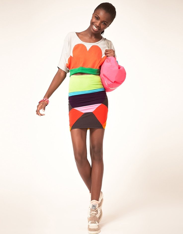 colors everywhere! Love!!Dresses Fashion, Fashion Styles, Dress Fashion, Fun Outfit