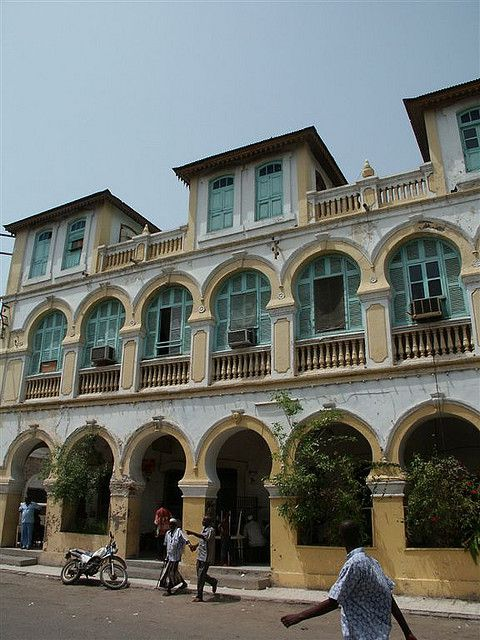 Colonial building in Djibouti