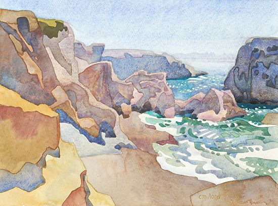 Shell Beach by carolyn lord Watercolor ~ 11 x 12