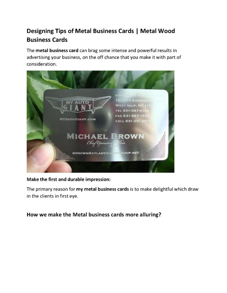 147 best Metal Business Cards images on Pinterest | Metal business ...