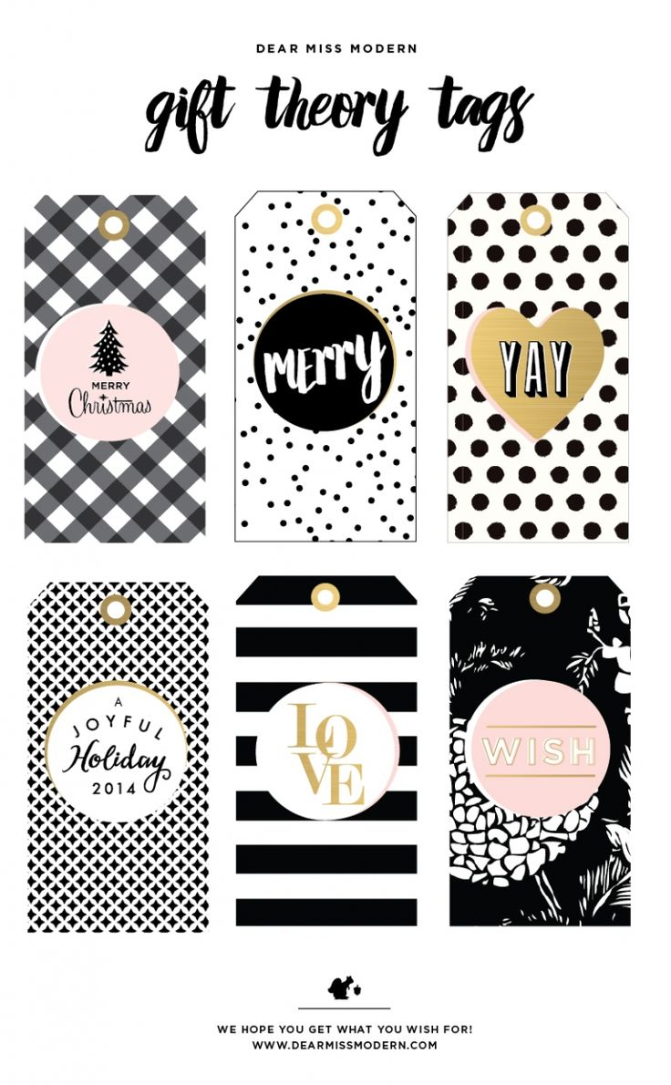 Free Download from Dear Miss Modern 2014 Gift Tags