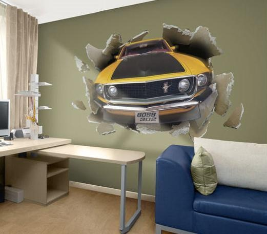idea para decorar paredes de recamaras de jovencitos binilos