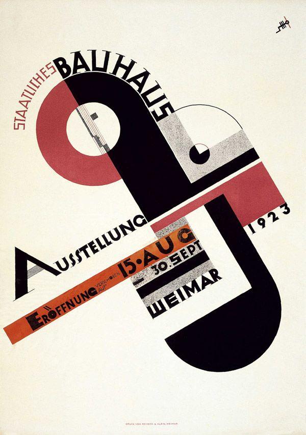 Litografía de la Exposición estatal Bauhaus (Joost Shmidt, 1923): La vanguardia aplicada: tipografía y diseño gráfico (1890-1950), Fundación Juan March, 2012.