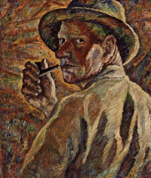 Self-portrait, by Vilho Lampi. (1928)