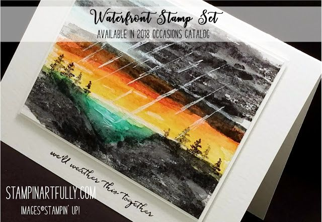 "Landscape ""Painting"" (Video Tutorial on blog) with Kim Jolley of Stampin' Artfully"