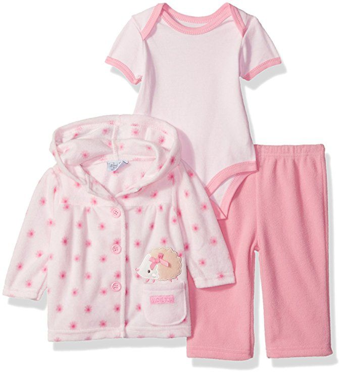 Rene Rofe Baby Little Kids Newborn 3 Pc Fleece Jacket And Bodysuit Set Pink 0 3 Months Fall Trends Outfits Baby Girl Clothes Cute Baby Clothes