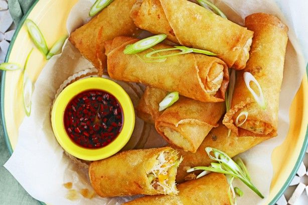 Create these yummy roast pork spring rolls with your leftovers.