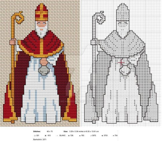 Sinterklaas! A fun design - have fun stitching! My original design, copyright me 2014. For personal use only, not for transmission, reproduction, download ...