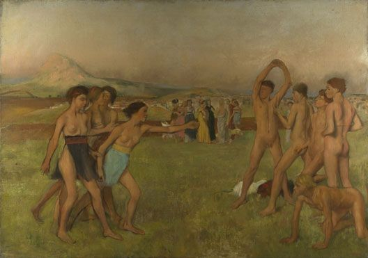 Young Spartans Exercising about 1860, Hilaire-Germain-Edgar Degas National Gallery