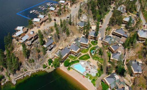 birds-eye view of Outback Lakeside Resort.