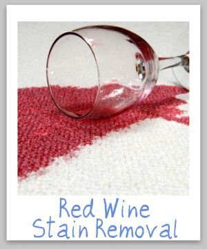 Red Wine Stain Removal For Clothes, Upholstery & Carpet. just tried this on a day old stain. worked like magic!!