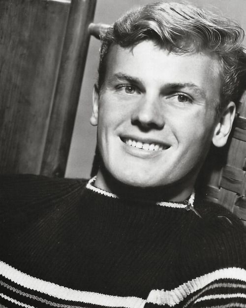 """lgbt-history-archive: """" Tab Hunter (born Arthur Andrew Kelm) (b. July 11, 1931), c. 1955. Tab Hunter, who turns eighty-five today, secured his status as a gay icon many times over. In September 1955, as Hunter skyrocketed to fame based largely on his..."""