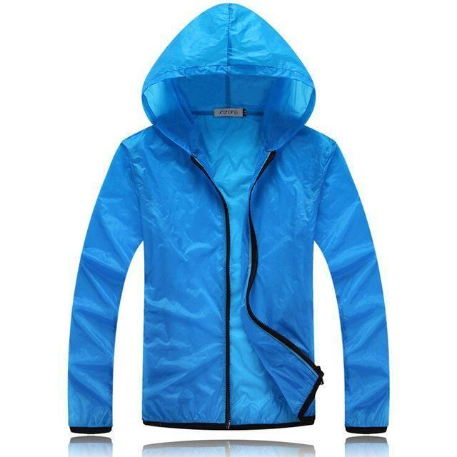 Unisex Sun Protection Jacket Sunscreen Coat Hooded Anti-UV Jacket Camping Hiking