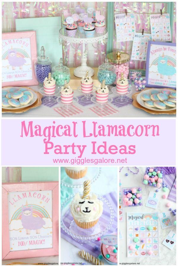Magical Llamacorn Party Ideas Fun365 Partyideas Kidsparty