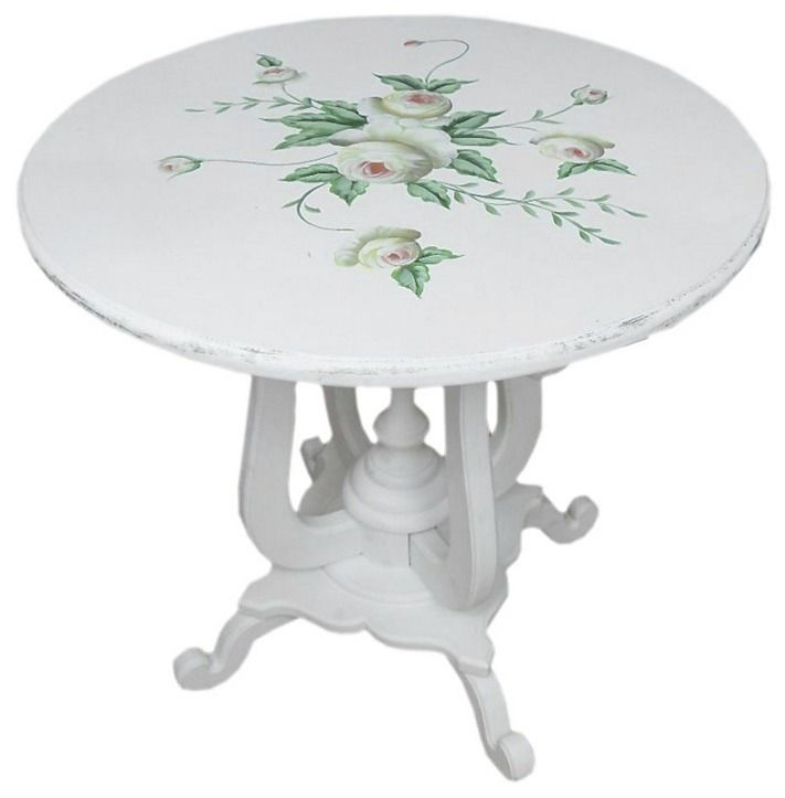 Vintage stolík Kvety - Najlepsinabytok.sk - Doprava ZDARMA!