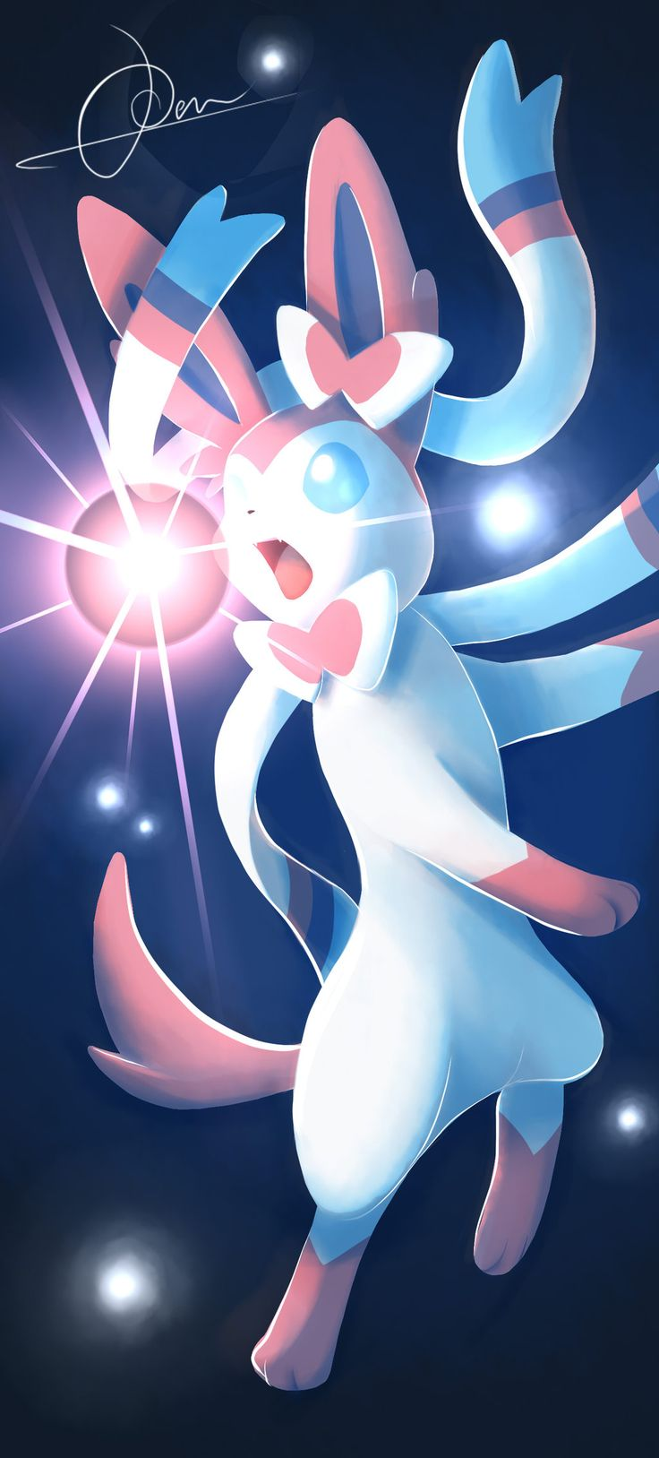 Enchant them all! The intertwining has arrived! by VulcanusKnight.deviantart.com on @deviantART (Sylveon)
